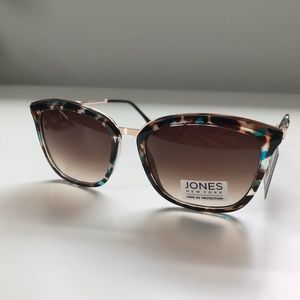 Jones New York Brown Turquoise Tortoise Sunglasses